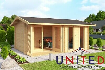 £3968 • Buy 14x10 Louis Garden Room Office Summer House Log Cabin With Available Insulated