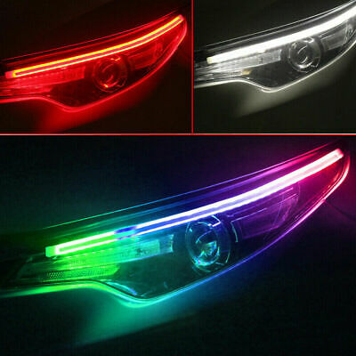 $13.99 • Buy 2× RGB LED DRL Car Styling Daytime Running Light Strip For Headlight Accessories