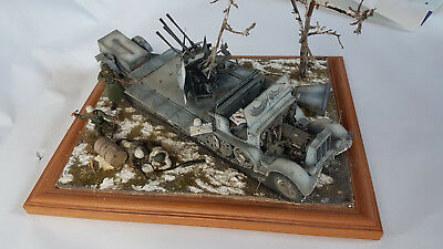 1/35 Scale Sd.Kfz.7/1 Diorama Trumpeter Model With Dragon Figures Built Painted • 99£