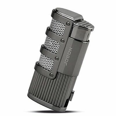 TOPKAY Cigar Lighter, Triple Jet Flame Torch Lighter With Cigar Punch Cutter • 19.99£