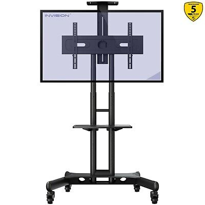 """£109.99 • Buy Invision Mobile TV Stand Trolley Cart On Wheels For 32-65"""" TVs Anti-Tip (GT1200)"""