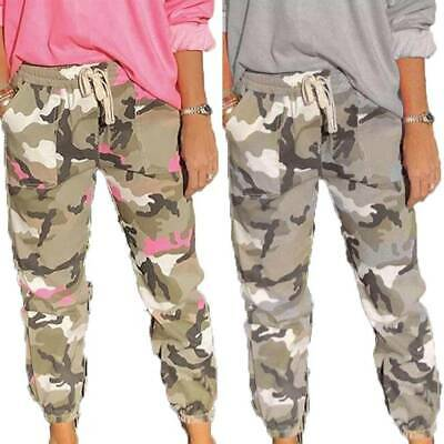 £11.87 • Buy Womens Camo Cargo Jogger Pants Trousers Jogging Slacks Sweatpants Bottoms Gym