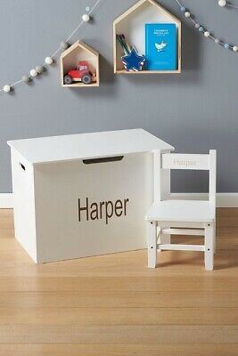 Personalised Name Sticker Toy Box Children's Ottoman Toy Chest Bedroom Nursery • 4.99£