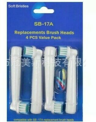 AU5 • Buy 4 X Oral B Compatible Electric Toothbrush Replacement Brush Heads Soft Bristles