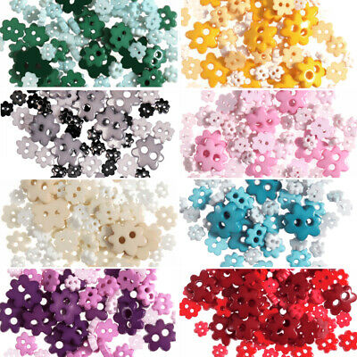 2.5g Mini Flower Buttons For Sewing And Haberdashery - Choice Of Colours • 1.81£