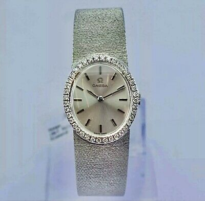 Beautiful 18ct White Gold & Diamond Ladies Omega Watch Year 1969 59 Grams 24mm • 2,595£