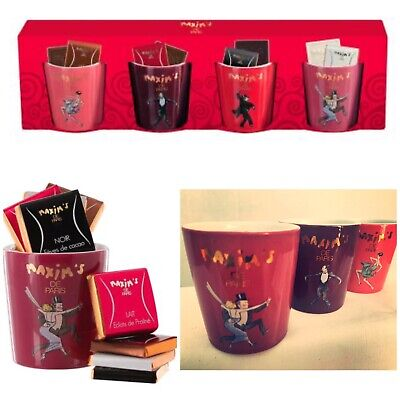 Maxim De Paris, French Espresso Coffee Cups, Chocolate Cups. Collectors X4 • 14.99£