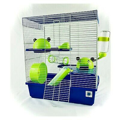 £37.99 • Buy Calypso Extra Large Syrian Hamster Cage Blue And Lime 3 Storey