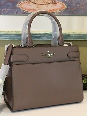 $ CDN177.19 • Buy Kate Spade Staci Cameron Medium Satchel Shoulder Tote Bag Brown Leather $399