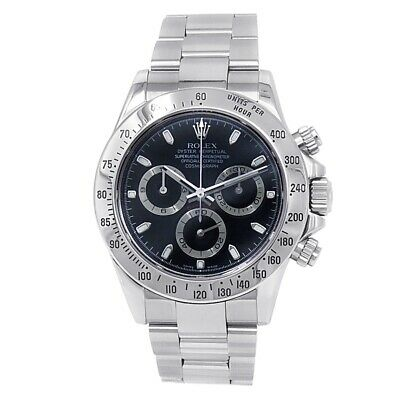 $ CDN26797.61 • Buy Rolex Daytona Stainless Steel Oyster Automatic Black Men's Watch 116520