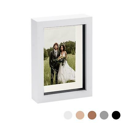 8 X 10 3D Box Frame Photo Picture Deep Display Shadow 5 X 7 Mount White/Ivory • 7.99£