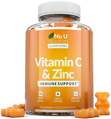 ​Vitamin C And Zinc 90 Gummies Immune Support Vitamin C As Ascorbic Acid • 12.97£