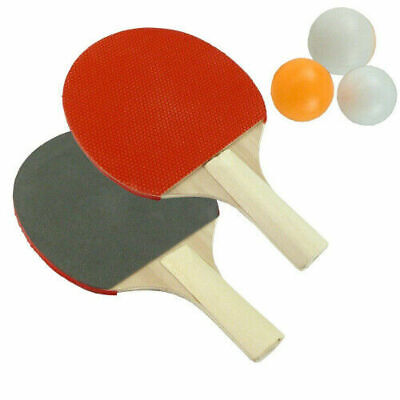 AU11.99 • Buy Wooden Table Tennis Ping Pong PLAY SET Includes 2 X Bats,3 X Balls FREE SHIPPING