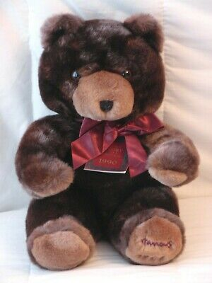 Harrods 1990 Birthday Foot Dated 13  The Glory Of Christmas Teddy Bear Tagged • 49.99£