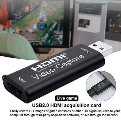 60fps 4K HDMI USB Video Capture Card HD Recorder For Mac Windows Live Streaming • 5.99£
