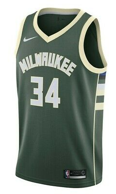 AU109.24 • Buy Nike NBA Swingman Jersey Mens Basketball Singlet Green Size S Bucks Icon Edition