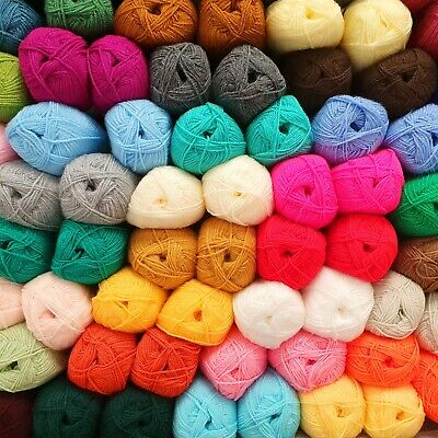 BEST QUALITY DK Knitting Yarn 100g Ball Double Knit Acrylic Wool AMAZING COLOURS • 1.99£