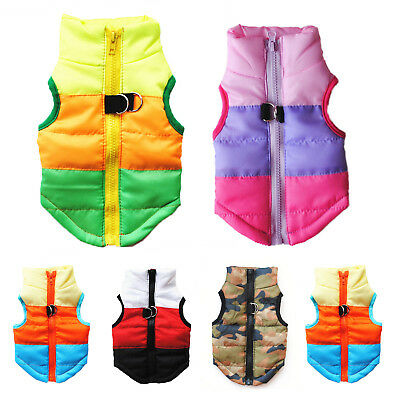 Winter Dog Coat Pet Cat Puppy Chihuahua Clothes Padded Jacket Vest Warm Costume • 6.17£