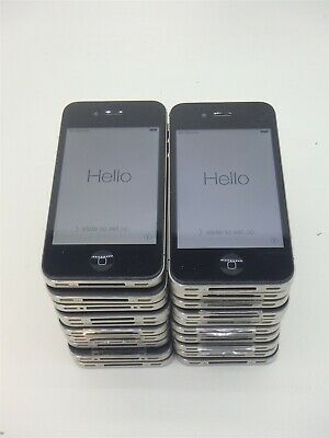 $ CDN131.81 • Buy Lot Of 20 IPhone 4 Black 8GB Verizon NO SIM CARD A1349 EMC 2422 IOS Warning!!!!