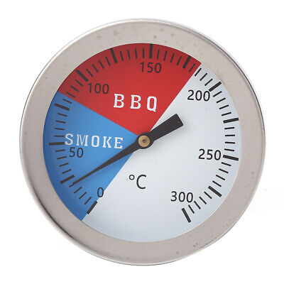 300 Celsius BBQ Grill Thermometer Stainless Steel Oven Temperature Gauge *DC • 4.35£
