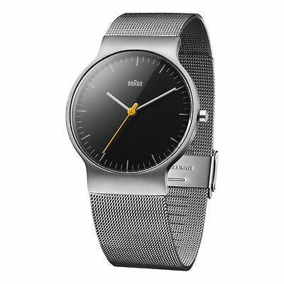 Braun Mens Watch With Black Dial Analogue Display & Silver Stainless Steel Strap • 110£