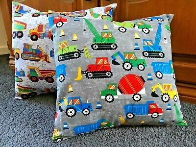 AU20 • Buy Handmade Cushion Cover, Drawstring Pyjama Toy Bag Trucks And Tractors
