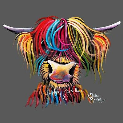 £7.99 • Buy HIGHLAND COW PRINTS Of Original SCOTTISH Painting NELLY G By SHIRLEY MACARTHUR