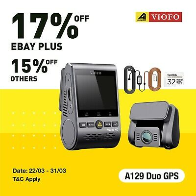 AU269.99 • Buy Viofo A129 Duo 2Lens Dash Camera Twin SONY Star Sensr 5GHz WIFI GPS+Sandisk 32Gb