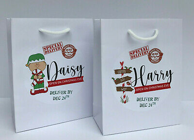 Personalised Christmas Eve Gift Bag Box | Xmas Favour  | Secret Santa | Present • 1.95£