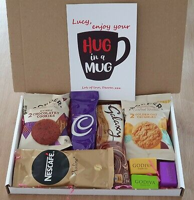 A5 Personalised Letterbox Christmas Hamper Hot Chocolate Coffee Gift Box  • 8.49£