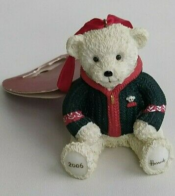 Harrods 2006 Alexander Resin Teddy Bear Christmas Tree Decoration Tagged • 129.99£