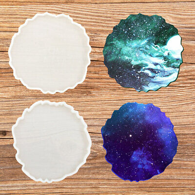 £3.03 • Buy Agate Coaster Resin Casting DIY Mold Silicone Jewelry Making Epoxy Mould Craft