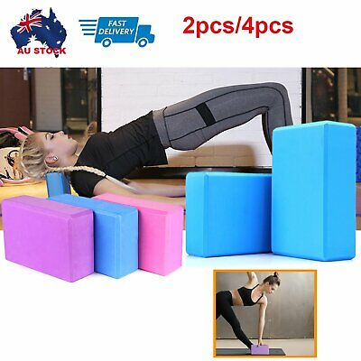 AU14.99 • Buy Yoga Block Brick Foaming Home Exercise Practice Fitness Gym Sport Tool