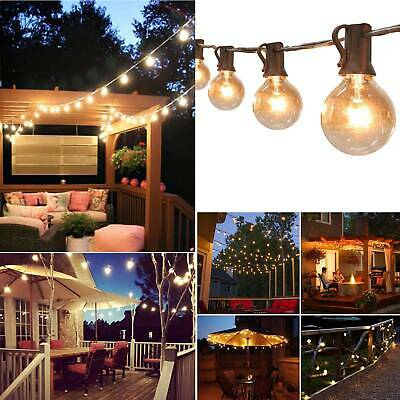 Retro Solar String Lights Outdoor Garden 50FT Festoon Party Globe Bulbs Light • 26.99£