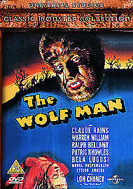 The Wolf Man (DVD, 2005) Classic 1940's Monster Film, Fast Shipping • 3.89£
