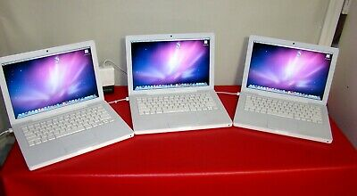 $ CDN297.33 • Buy Lot Of 3 Apple MacBook A1181 2.1Ghz 1GB 120GB HD 13.3  OSX 10.6.8 NO AC Adap #1