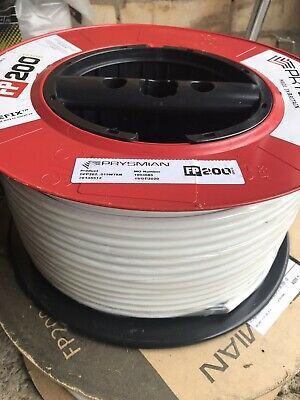 NEW PRYSMIAN 1.5mm FP200 GOLD FIRE CABLE WHITE 100m • 85£