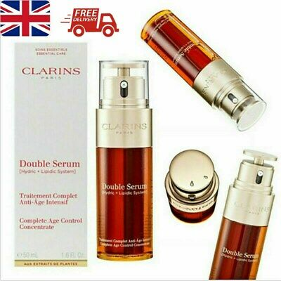 UK Clarins Double Serum 50ml Complete Age Control Concentrate Firming Anti Aging • 12.99£