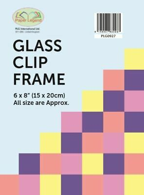 £4.79 • Buy Single - 6 X8  / 15x20cm Glass Clip Frame Frameless Photo Frame