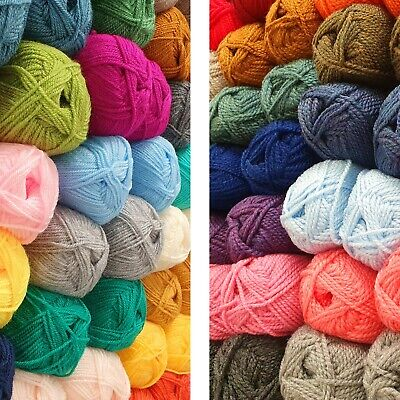 DK Or CHUNKY Yarn Double Knitting Acrylic Wool Large 100g Ball Soft Knit Crochet • 2.25£