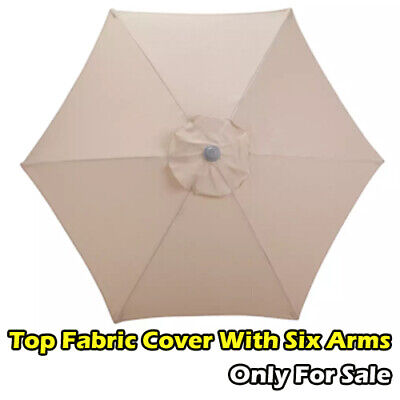 Garden Parasol Top Fabric Cover Only For Sale With Six Arms - Cream 3499. • 12£