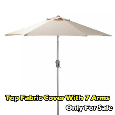 Garden Parasol Top Fabric Cover Only For Sale With 7 Arms - Cream 3500. • 12£