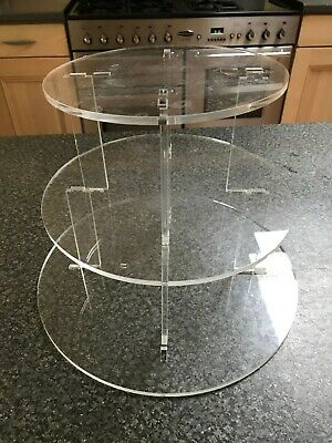 £20.99 • Buy Acrylic Perspex 3 Tier Cake/ Cupcake Stand
