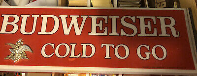 """$ CDN162.19 • Buy Rare Vintage 1970's BUDWEISER  Cold To Go  Lighted Beer Metal Sign 18"""""""