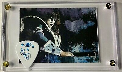 KISS Ace Frehley Card /rare Blue Prism Guitar Pick From Ace's Last Tour Display! • 10.30£