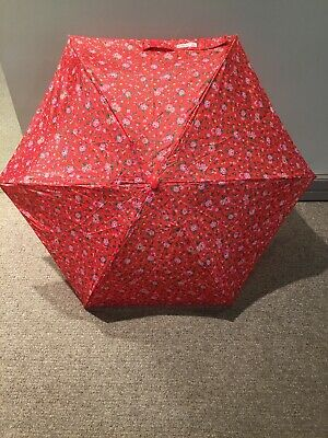 Cath Kidston Tiny Umbrella Manual Red Floral. Wimbourne Ditsy Compact GiftBoxed • 19£