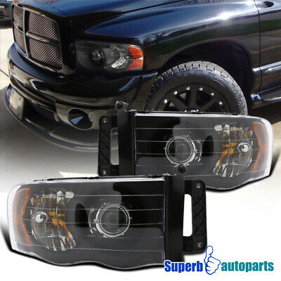 $119.98 • Buy For 2002-2005 Ram 1500 Ram 2003-2005 2500 3500 Black Projector Headlights