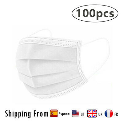 White Disposable Face Masks Aarton Mask Medical Surgical (3 Ply Not 2 Ply) • 9.99£
