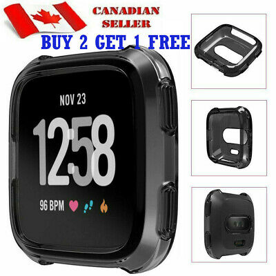 $ CDN2.99 • Buy For FITBIT VERSA Case Soft Gel Silicon Protective Smart Watch Cover Protector