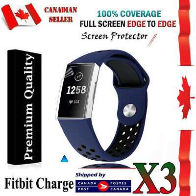 $ CDN4.99 • Buy 3X Ultra Clear Hydrogel AQUA Screen Protector Film Guard For Fitbit Charge 2 3 4